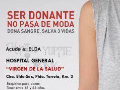 Donación sangre en Elda 13-08-2018