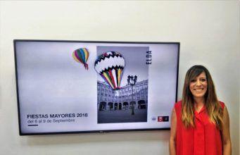 Laura Rizo, ha presentado el cartel municipal de Fiestas Mayores Elda 2018