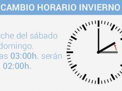 Cambio de hora - horario de invierno