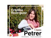 La eldense Cristina Rodríguez, candidata a la lista por la circunscripción de Alicante.