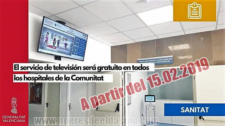 El servicio de televisión será gratuito para pacientes de todos los hospitales públicos a partir del 15 de febrero