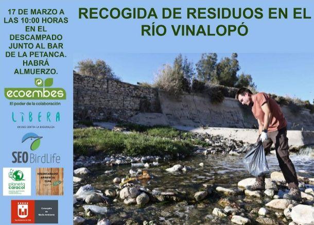 La recogida de residuos se realizará a través del proyecto 'Libera' en la zona sin encauzar próxima al Club de Petanca Las 300