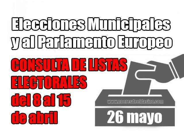 Elecciones Municipales Elda y Europeas