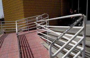 Obra de mejora de accesibilidad al Hospital de Elda