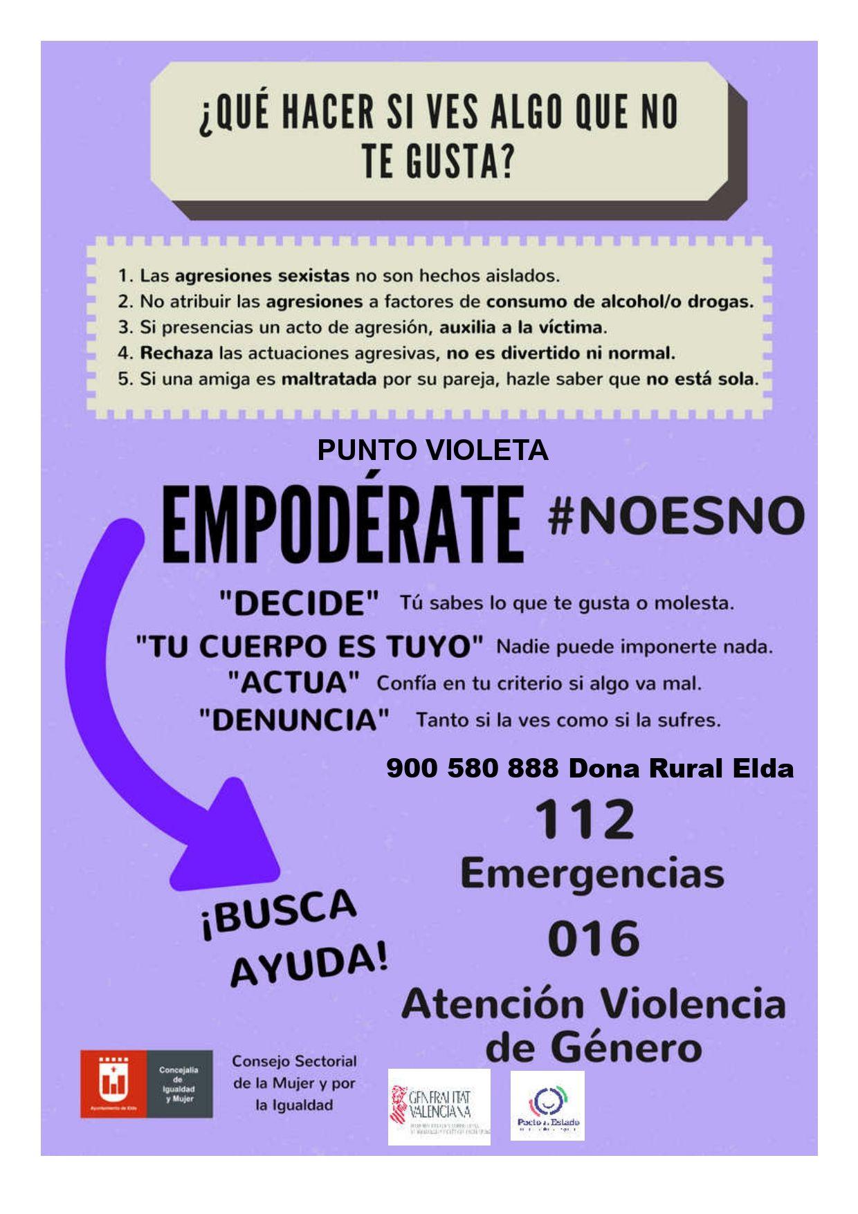 Puntos Violeta Moros y Cristianos Elda