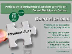 Proposa Cultura Petrer 2019