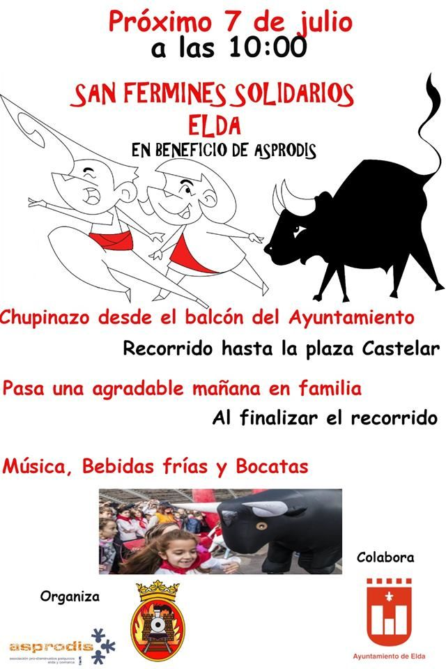 San Fermín (Solidario) en Elda el 7 de julio