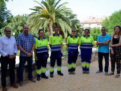 Petrer refuerza el servicio de mantenimiento de parques y jardines durante el verano