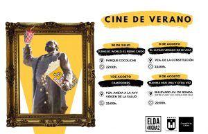 El cine de verano regresa a Elda durante los meses de julio y agosto