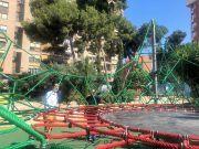 Renovación de los nuevos juegos infantiles en Elda