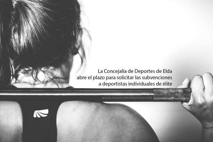 Subvenciones a deportistas de élite en Elda 2019