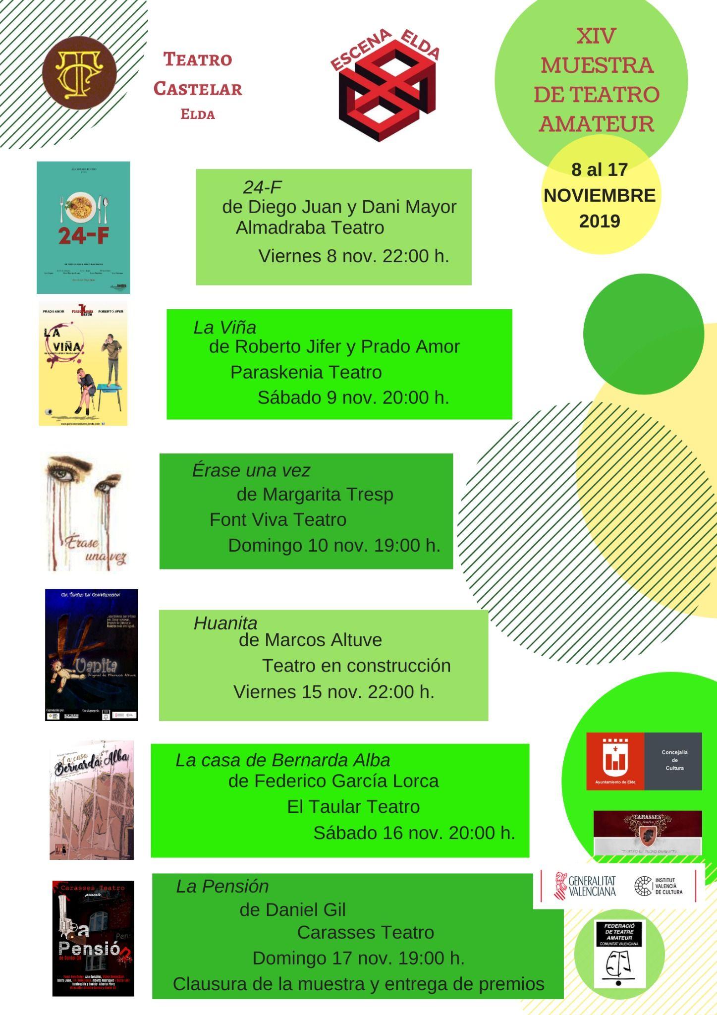 Obras 14ª Muestra de Teatro Amateur de Elda
