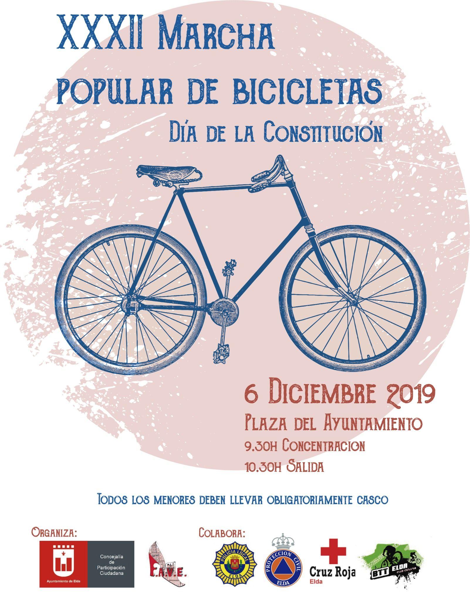 XXXII Marcha Popular de Bicicletas con motivo del Día de la Constitución