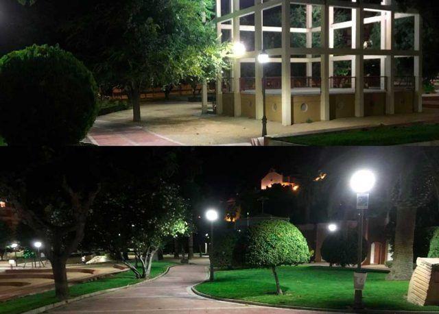 Petrer renueva la iluminación de varios parques por tecnología LED