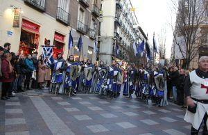 Moros y Cristianos de Petrer desfilando por el centro de Madrid coincidiendo con FITUR 2019