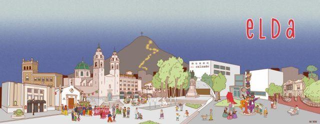 Imagen turística de la ciudad, obra de la ilustradora eldense Ana Oncina