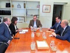 Rubén Alfaro se ha reunido en Madrid con Julián López Milla, secretario de Infraestructuras
