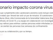 Cuestionario impacto coronavirus