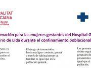 Información para las mujeres gestantes del Hospital G. U. de Elda durante el confinamiento poblacional ( Covid-19)