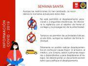 Restricciones de movilidad se mantienen en Semana Santa