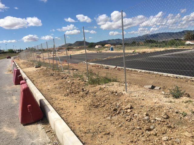 obras de acondicionamiento del solar del IES Azorín
