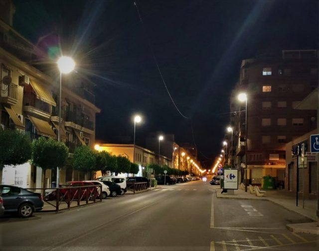 Iluminación de la Avenida de Madrid por tecnología LED de bajo consumo