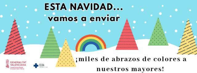Campaña 'Esta Navidad, vamos a enviar miles de abrazos de colores a nuestros mayores'