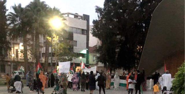 Concentración en favor del pueblo saharaui