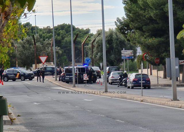 Control perimetral de Elda por la Policía Nacional