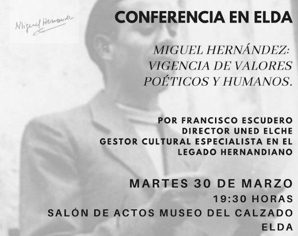Conferencia sobre Miguel Hernández para conmemorar el Día de Recuerdo y Homenaje a las Víctimas de la Guerra Civil y la Dictadura