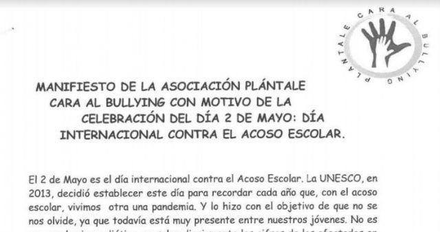 Este domingo 2 de mayo se conmemora el Día Internacional contra el acoso escolar
