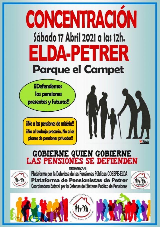 CONCENTRACIÓN que tendrá lugar el próximo día 17 de abril a las 12 horas en Petrer, parque El Campet,