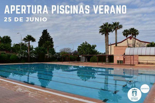 Petrer abrirá las piscinas de verano el 25 de junio