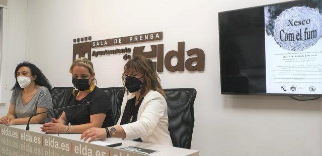 El Museo del Calzado de Elda acoge la exposición de pinturas 'Com el fum', del artista valenciano Xesco Máñez