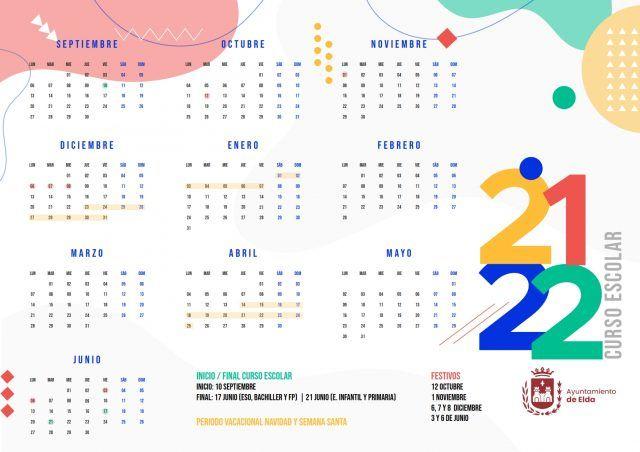 Calendario Escolar Elda 2021 - 2022