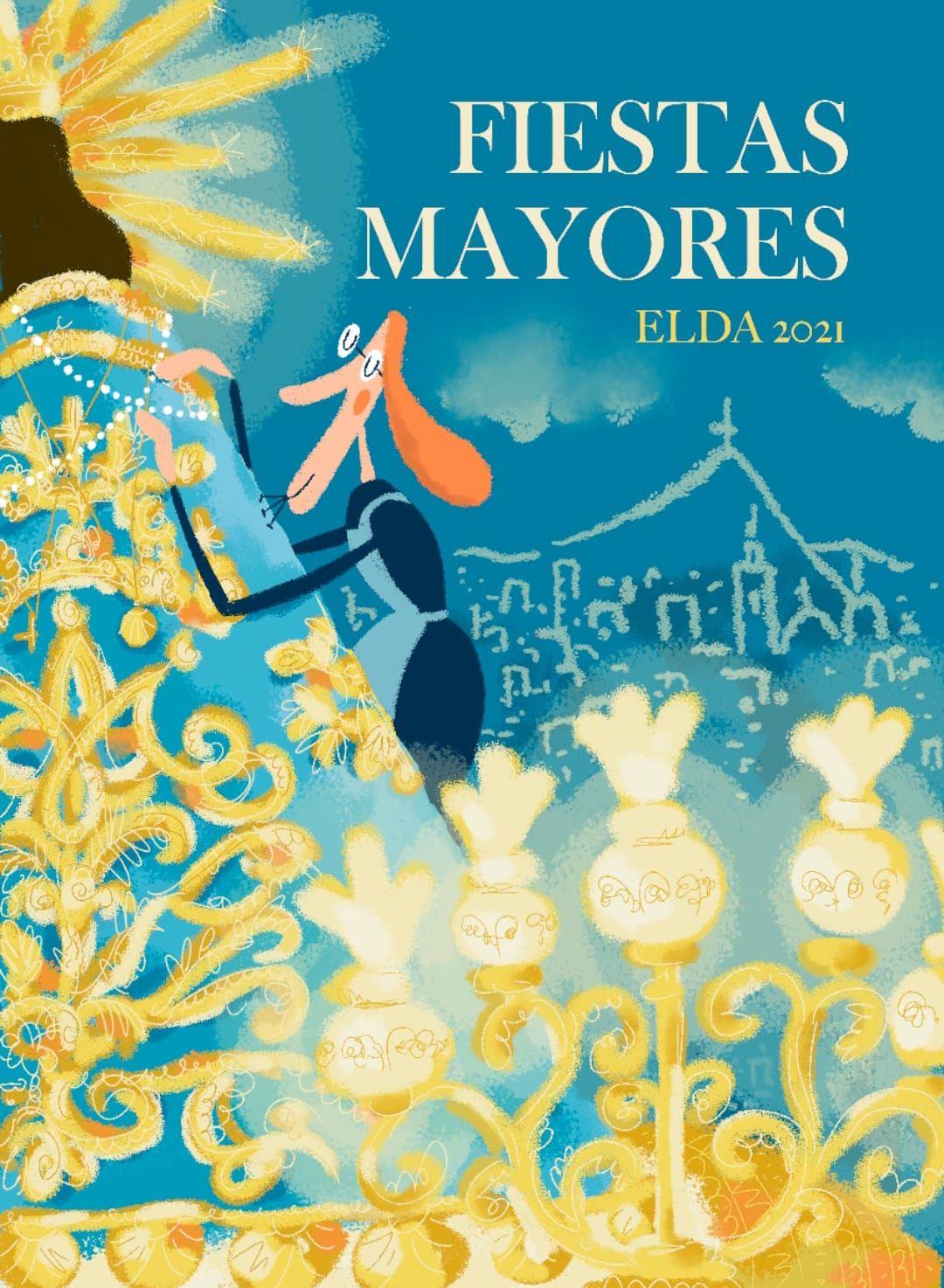 La ilustradora eldense Luisa Vera ha diseñado la portada de la revista FIESTAS MAYORES ELDA 2021